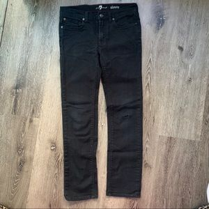7 for all mankind Boys Sz 10 Slimmy Black Jeans
